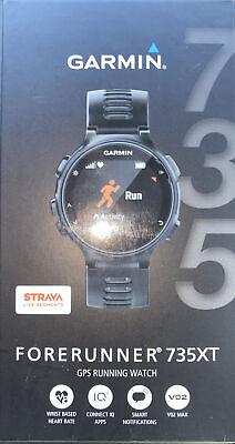 garmin Forerunner 735XT, Multisport GPS Running Watch With Heart Rate,Black/Gray
