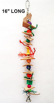 The Leather Worm pet bird toy parrot cage toys small cockatoo mini macaw senegal