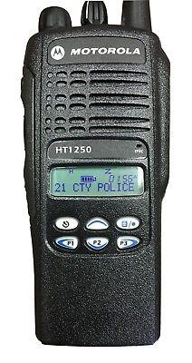 Motorola Ht1250 Radio Only Uhf 450-512 128 Ch Lmtd Key Aah25sdf9aa5an