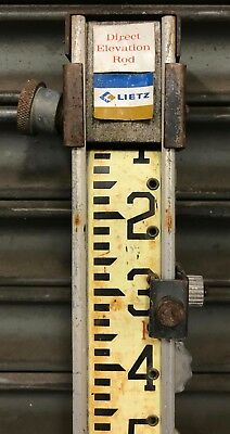 Vintage Leitz Direct Elevation Rod - Wood Surveying Grade Rod