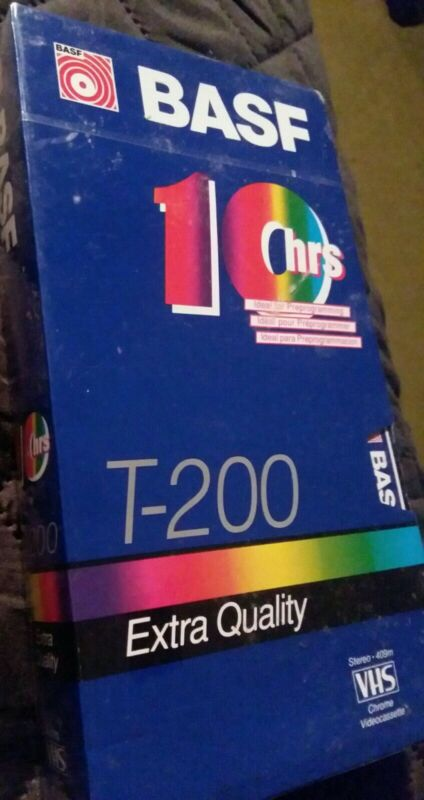 BASF T-200 VHS Video Tape 10hrs NEW SEALED extra quality VIDEOTAPE