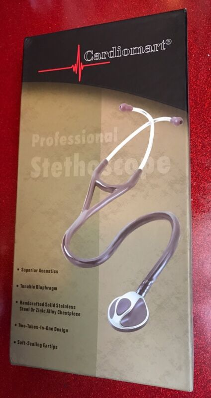 "new PROFESSIONAL STETHOSCOPE SUPREME QUALITY BINAURAL TUBING Chrome ""cardiomart"""