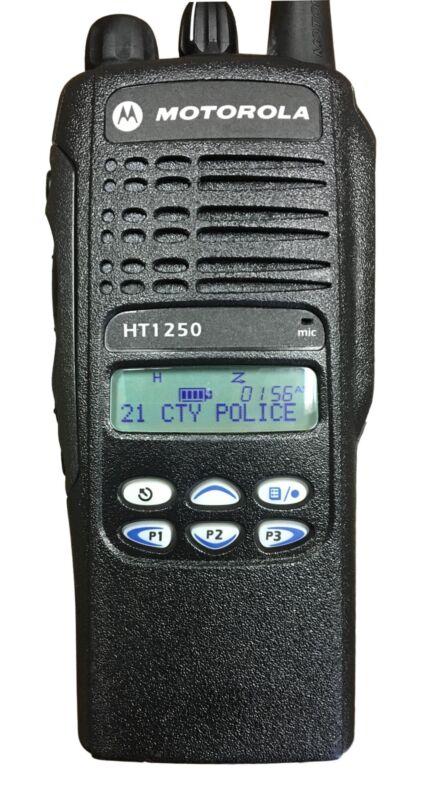 Motorola HT1250 Portable Radio, UHF 450-512, 128 CH, Lmtd Key AAH25SDF9AA5AN