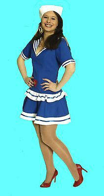 süßes sexy Damen Mädchen Kostüm MATROSIN Marine Matrose Gr 34  (Damen Sexy Matrose Kostüm)