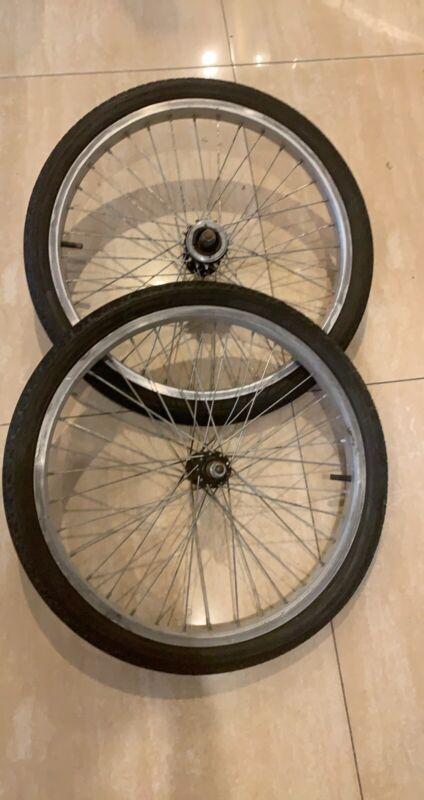 "Gt Dyno Rims Femco 20"" BMX Rim Set 20 X 1.75 With Old school Gt Tires"