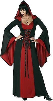 Sexy Adult Women Deluxe Hooded Robe - Full Length Cloak - Halloween Costume - Full Length Halloween Costumes