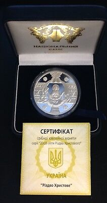 1999 Ukraine 10 HRYVEN Christmas 2000 Years Ritual Orthodox Holidays Proof  ()