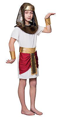 Jungen ägyptischen Kostüm (Jungen Kinder ägyptisch Kostüm Tutankhamun Kostüm Buchwoche Pharao Outfit NEU)