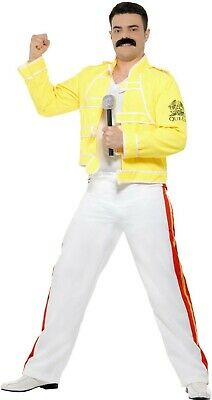 Queen - Freddie Mercury - Adult Yellow Concert Outfit Costume](Freddy Mercury Costumes)