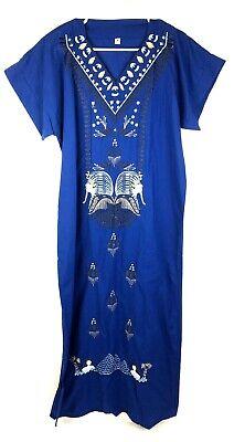 Womens Size S Full Length Dress Costume Egyptian Blue Egypt Small Pharaoh