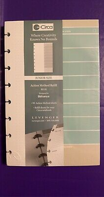 New In Package Levenger Circa Action Method Refill Blue Junior 99 Sheets