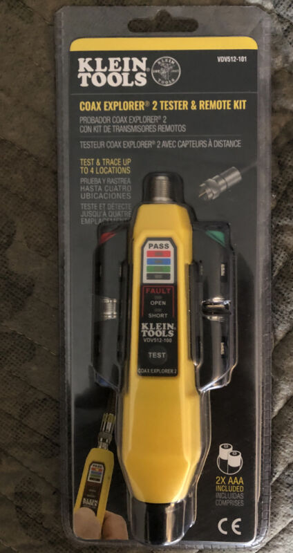 Klein Tools VDV512-101 Cable Tester, Coax Explorer® 2 Tester with Remote Kit