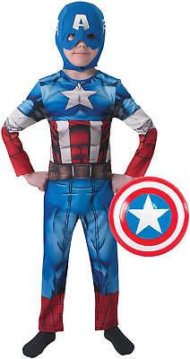 Captain America Classic mit Schild Kinder Karneval Fasching Kostüm 104-128 Captain America Kostüme