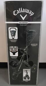 New Callaway Daytripper 3-Wheel Golf Push Pull Cart Black