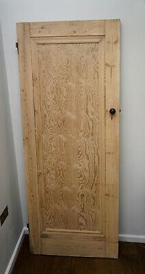 Vintage period heavy pine door internal 196cm X 75.5cm