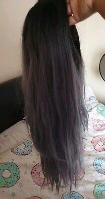Sensationnel Lace Front Jocelyn T1B/PERIWINKLE Dark Grey/Blue Wig