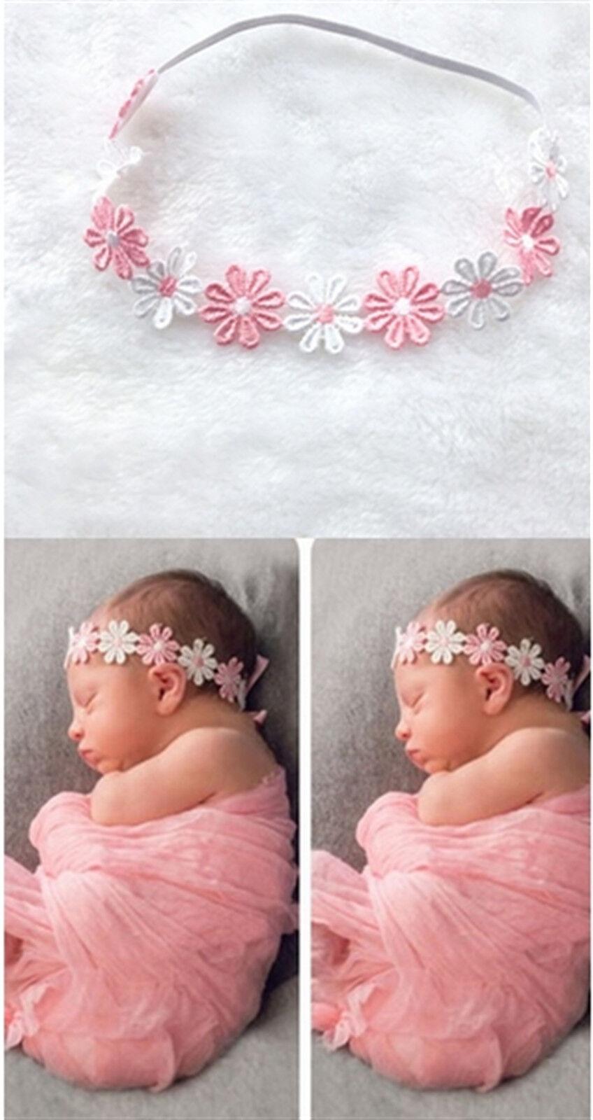 Zartes Haarband BABY BLÜMCHEN Stirnband Baby Taufe 1