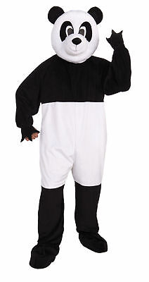 Panda Adult Costume Mascot Party Men Women Plush Fun Fur Jumpsuit Kung Fu Zoo (Black Man White Woman Halloween Costumes)