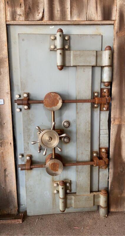Used-Antique Mosler vault door/trim- Mosler Safe Company