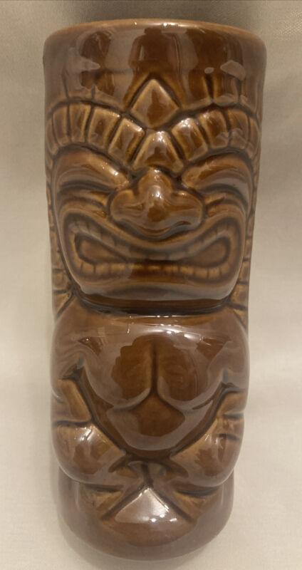 Mai-Kai Brown Hawaiian Ku Tiki Mug Mara Amu Mai Kai Hukilau Ft. Lauderdale RARE