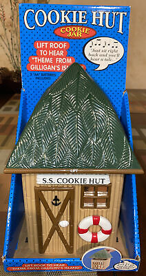 "Collectors Musical ""SS Cookie Hut"" Cookie Jar Gilligan Island Theme Song"
