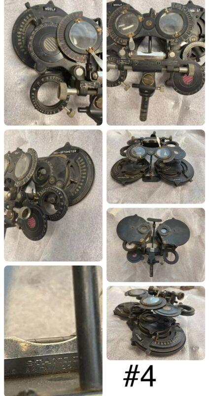 Antique Refractors Lot X4 Phorometer Phoropter Ophthalmology Optometrist Woolf
