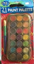 21 Piece paint palette with chubby brush Cherrybrook Hornsby Area Preview