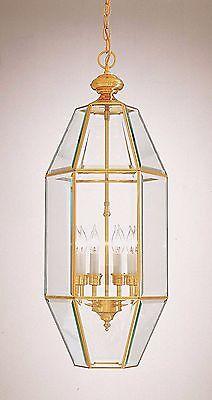 "Minka Lavery Large 26"" Solid Brass/Glass Foyer Pendant Lamp,Entry/Landing -"