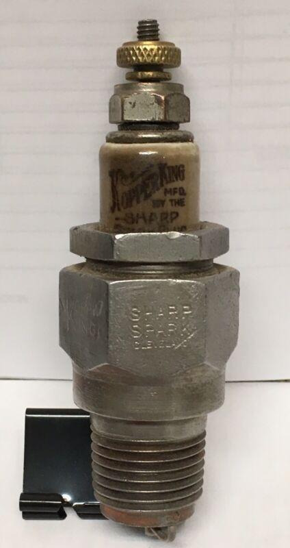 "NOS Rare Vintage KOPPER KING SHARP SPARK Spark Plug 1/2"" Thread Nice Printing !"
