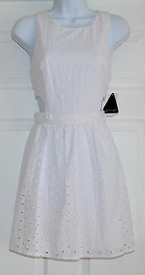 City Triangles Junior Party Cocktail Dress Sz 3 Cotton White