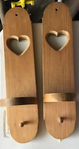 Wood candle wall sconces