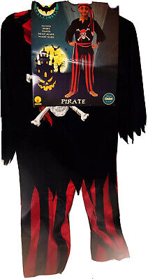 Rubie's Cast Of Characters Boy's Halloween  Costume Pirate 4 Piece Size M 8-10
