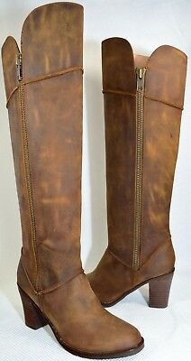 Soft Surroundings® Ava Knee High Leather Brown Zipper Sz 8.5 Boots🌹