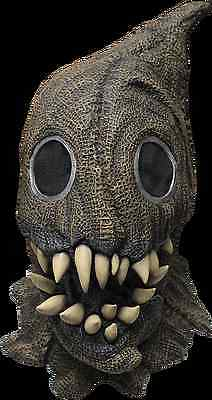 BRAND NEW Scarecrow Fangs Creature DELUXE ADULT LATEX SACK MONSTER MASK