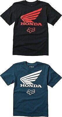 Youth Graphic T-shirt (Fox Racing Youth Boy's Honda Basic Graphic Short Sleeve T-Shirt  - Youth Tee)