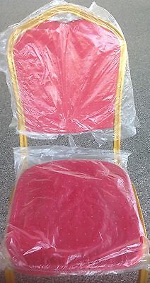 Crown Back Stacking Banquet Lot Of 100 Chairs With 6 Color Fabrics