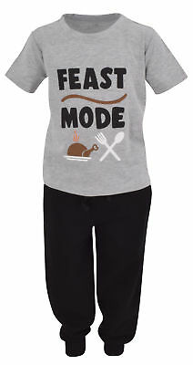 Boys Feast Mode Thanksgiving Outfit Shirt Jogger Sweat Pant Toddler Kids - Kids Thanksgiving Outfit