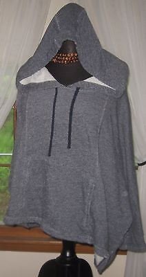 Gap Women's Hoodie Pullover Poncho Style Sweat Shirt French Terry Gray X Large Terry Hoodie Sweatshirt