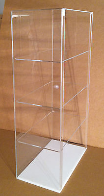 Usa- Acrylic Counter Top Display Case 12 X 7 X 22.5 Different Shelf Spacing