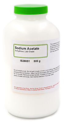 Lab-grade Anhydrous Sodium Acetate 500g - The Curated Chemical Collection