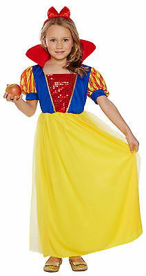Snow White Outfit Kids (Snow White Child Girls Fancy Dress Up Costume Princess Outfit Age 4-12 Book)