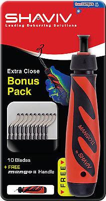 Shaviv 29255 Bonus Pack Deburring Tool Kit 10 B10s Blades See Blade Promo
