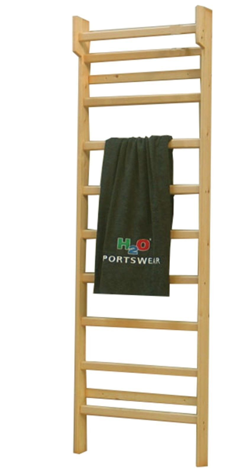 Solide Holz Sprossenwand Turnwand Kletterwand Gymnastik Fitness 225x70 cm