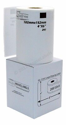 4 Rolls Of Dk-1241 Brother-compatible Shipping Labels Bpa Free