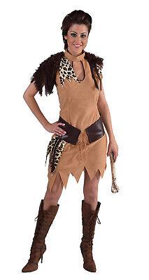 Neandertalerin Jungle Urwald Steinzeit Höhlen Kostüm Kleid Damen Dschungel Frau (Höhle Frau Kostüme)
