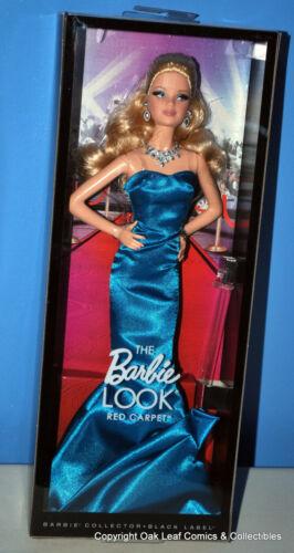 The Barbie Look Red Carpet Teal Dress NRFB 2013 NIB Nice Box!