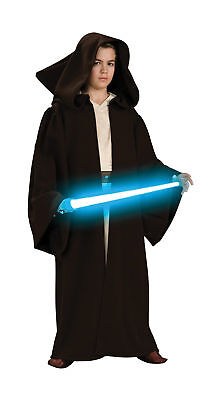 Jedi Robe Super Deluxe Robe With Hood Attached Child Halloween Costume Rubies ()