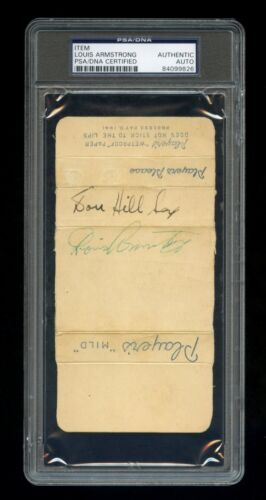 Louis Armstrong Signed Autographed Players Mild Cigarette Pack PSA/DNA Certified