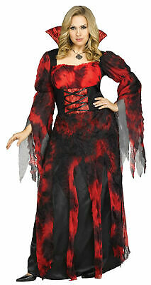 NEW Fun World Vampire Countessa Women Halloween Dress Up Costume Sz: XL - Kostüm Countessa