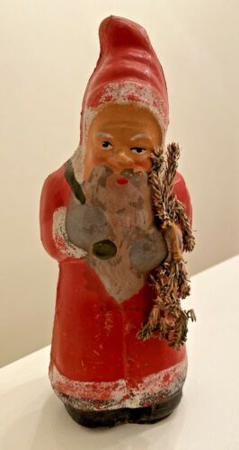 Antique Christmas Belsnickle Santa medium Candy Container